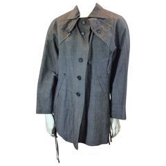 Issey Miyake Grey Linen Button Up Jacket