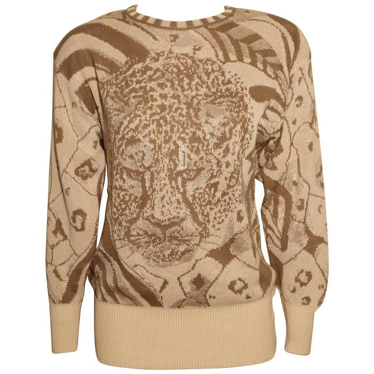 Vintage Escada Cheetah Print Sweater