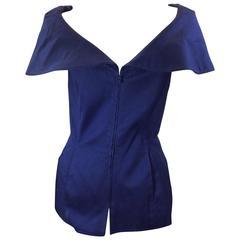Claude Montana Blue Zip Up Vest