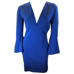 Emilio Pucci Royal Blue Flare Sleeve Dress