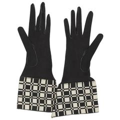 Black/White Gauntlet Gloves
