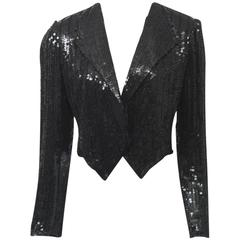 Neil Bieff/Arturo Herrera Black Sequined Jacket