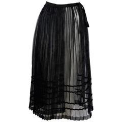 Yohji Yamamoto 90's Pleated Transparent Wrap-Skirt