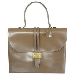 Lederer Vintage Taupe Leather Small Briefcase - 1950's
