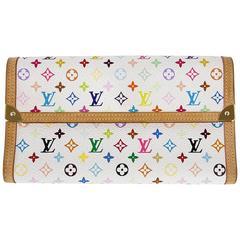 Louis Vuitton Porte Tresor International White Murakami Wallet