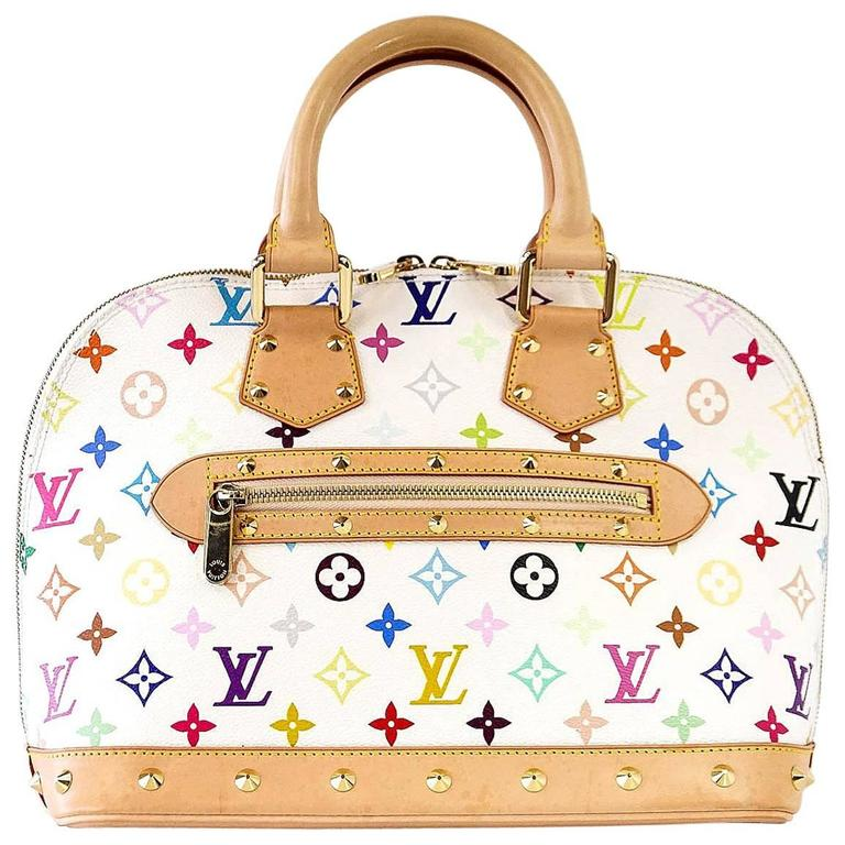 f2743bb476e3 Louis Vuitton Bag White Murakami Alma Beauty at 1stdibs