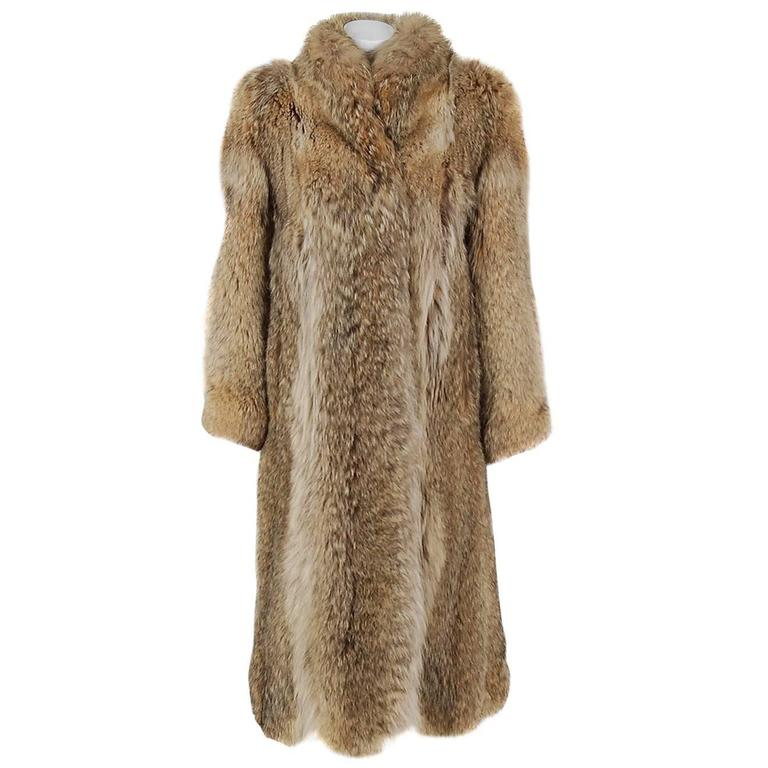 1974 Christian Dior Fourrure Genuine Lynx Fur High-Collar Stroller Jacket Coat
