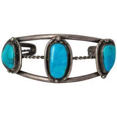 50s Turquoise Silver Bracelet