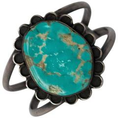 50s Turquoise Silver Bracelet