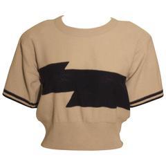 Vintage 1980s Sonia Rykiel Short Sleeve Sweater