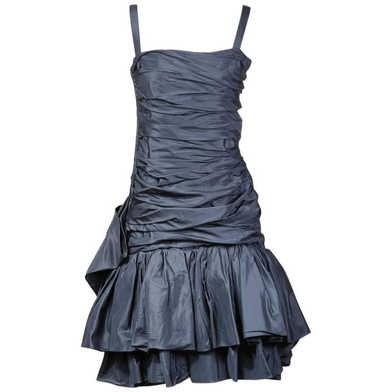 Yves Saint Laurent Haute Couture Dress circa 1980s 1
