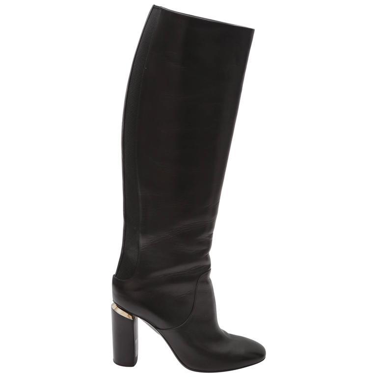 Nicholas Kirkwood Black Knee High Boots
