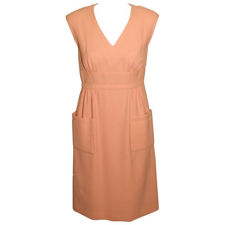 Vintage Pauline Trigere Baby Pink Day Dress