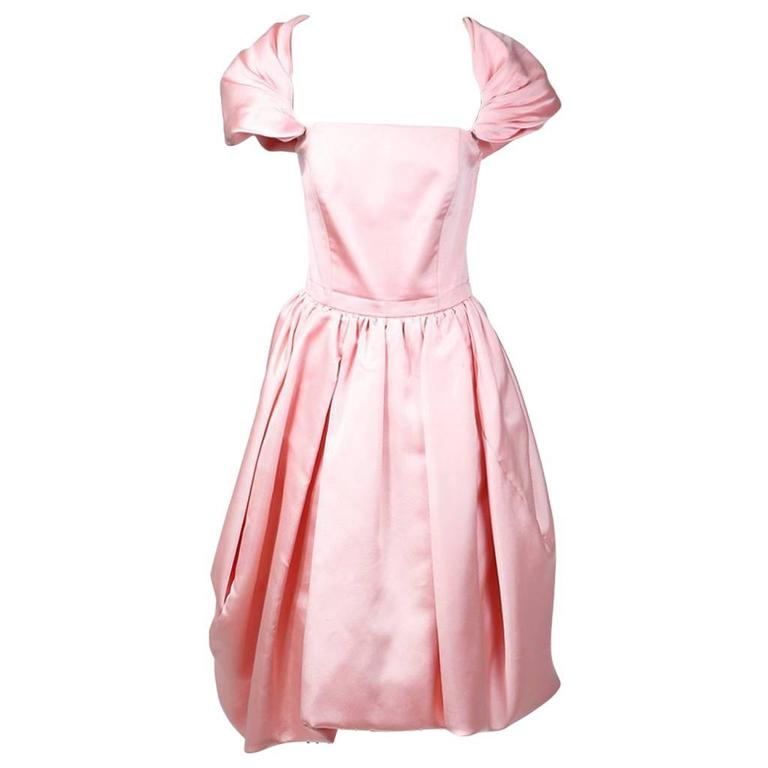 Yves Saint Laurent Bubble Gum Pink Dress circa 1980s
