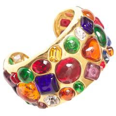 Chanel Gripoix Cuff Bracelet Vintage 1988