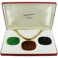 Lanvin Paris Vintage Rare Interchangeable Pendant Necklace