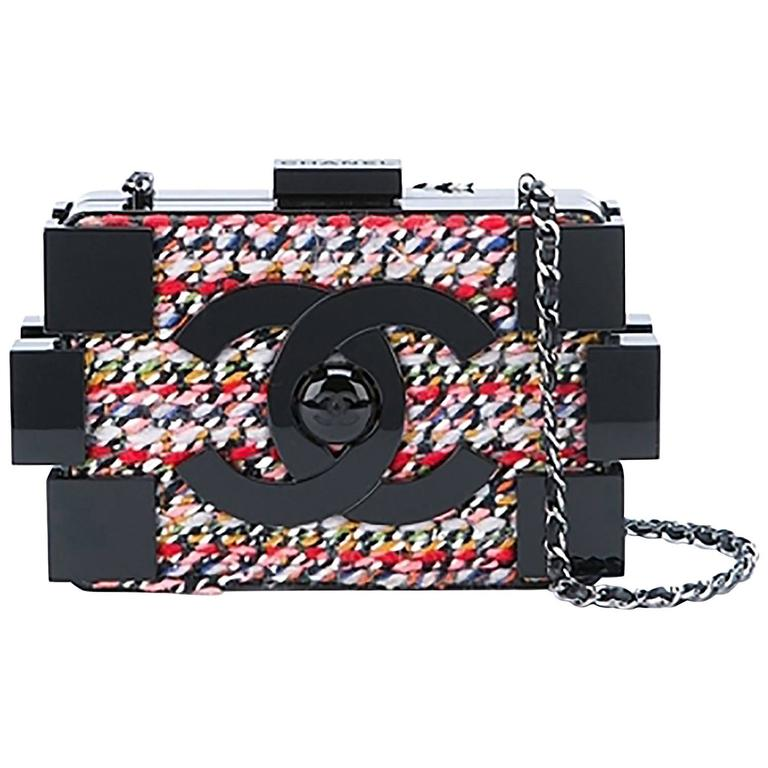 Chanel Tweed and Plexiglass Lego Crossbody Bag 1