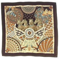 F/W 2001 Hermes Trophees De Venise Silk Scarf by Julia Abadie
