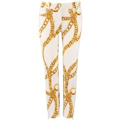CELINE Spring 2004 MICHAEL KORS Signature Chain Print Cropped Pants 36
