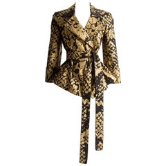 Yves Saint Laurent by Stefano Pilati black and gold evening jacket, circa 2008