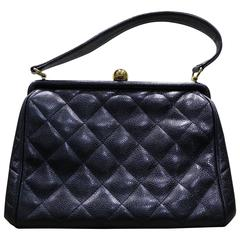 Chanel Black Quilted Leather Handbag
