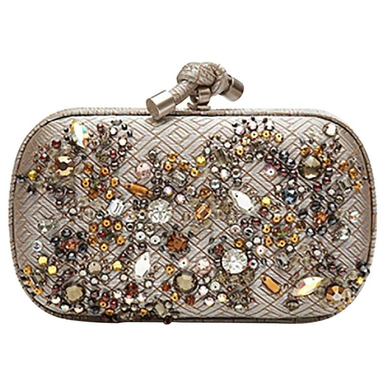 Bottega Veneta Crystal Embellished Knot Clutch Bag 1