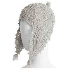 Vivienne Westwood crochet lurex hat, AW 1993