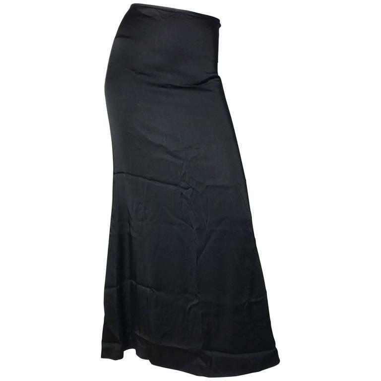 1990s Jean Paul Gaultier Classique Satin Skirt