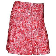 Superbe Chanel Fantasy Tweed Lesage CC Logo Faux Wrap Skirt Seen on Kendall