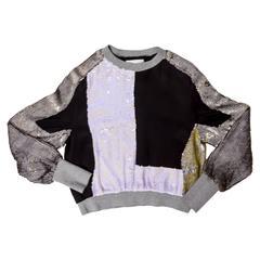 Phillip Lim Sequin Sweatshirt - Size 4