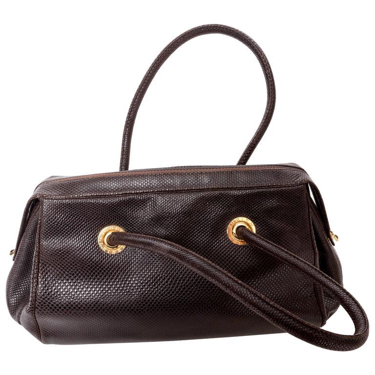 Judith Leiber Top Handle Structured  Karung Bag