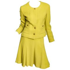 Chanel Skirt Suit in Chartreuse