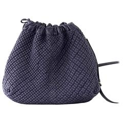 Bottega Veneta Bag Drawstring Tote Dark Plum Cross Body Lush Leather Texture