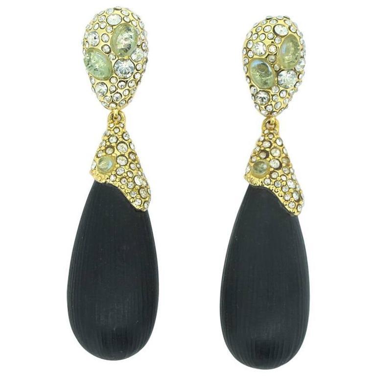 Alexis Bittar Double Drop Lucite Earrings 1