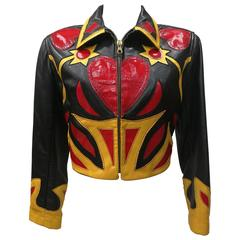 Iconim Museum Piece Moschino Leather Patchwork Jacket