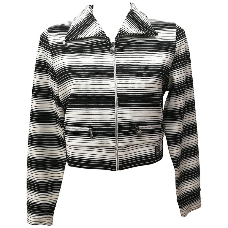 Versace Jeans Couture Black & White Stripes Jacket