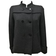 Red Valentino Virgin Wool Grey Coat