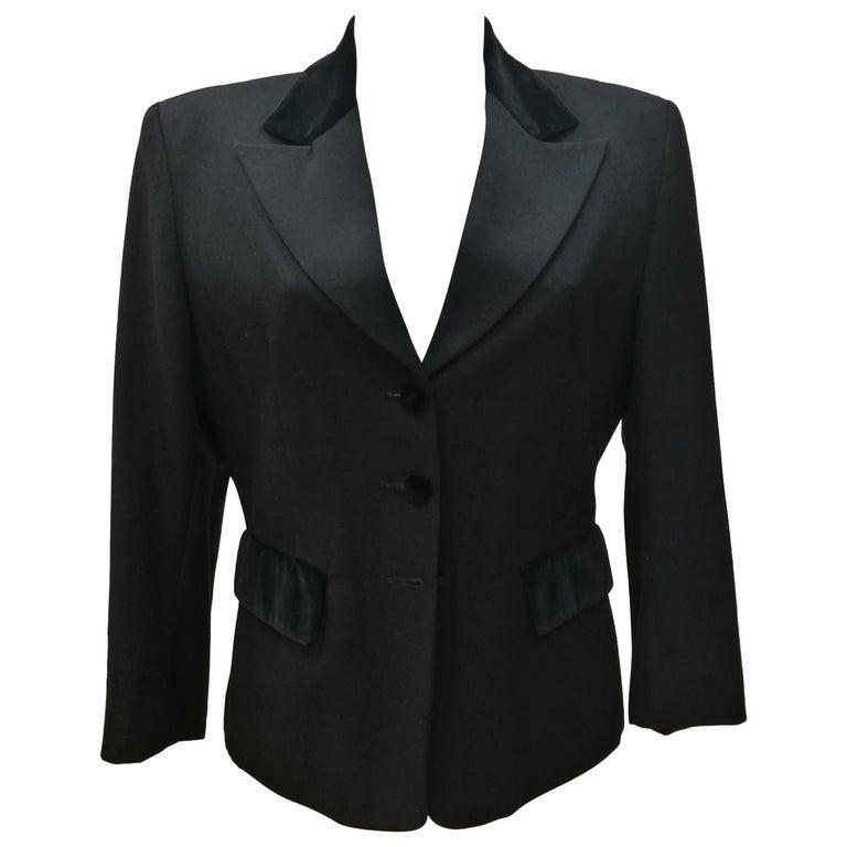 Vintage Oliver by Valentino Black Jacket For Sale