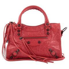 Balenciaga City Classic Studs Handbag Leather Mini