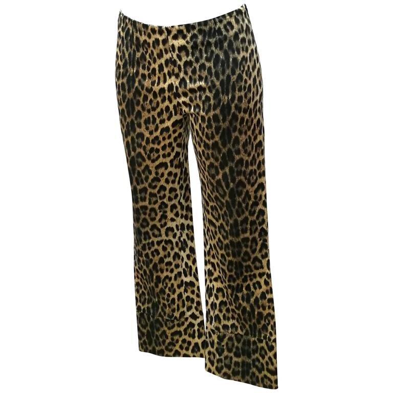 1980s Moschino Cheetah Jeggings For Sale