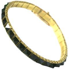 Art Deco Punk Straight Line Bracelet