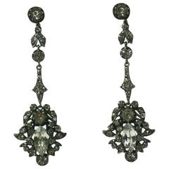 Long Victorian Articulated Paste Earrings