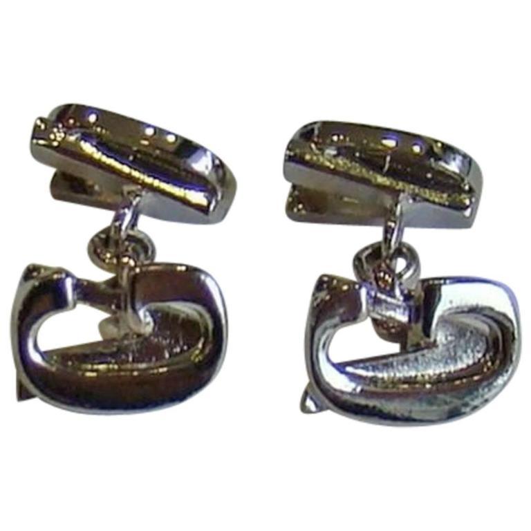 Gianni Versace Silver Cufflinks 1990's