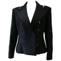 Gianni Versace Couture Punk Cut-Out Tuxedo Evening Jacket Spring 1994