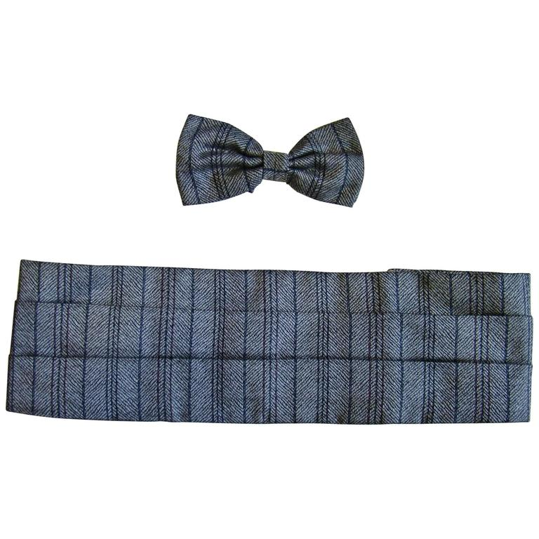 Unique Gianfranco Ferre Bow Tie And Waistband