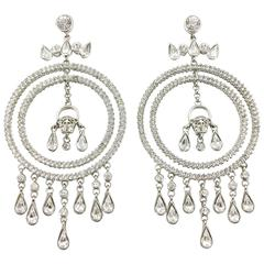 Versace Crystal Embellished Chandelier Earrings with the 'Medusa's Head'