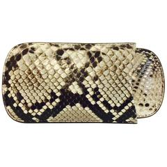 Men's Python Skin Three Finger Cigar Sleeve