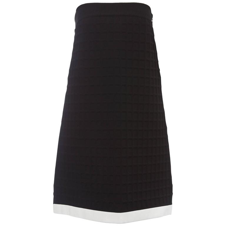 Chanel Runway Black Strapless Dress Faux Pearl Button Back Closure, Spring 2013