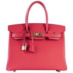 Hermes Birkin 30 Bag Rouge Tomate Epsom Gold Hardware
