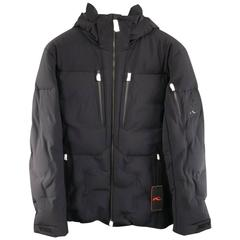 Men's HUBLOT by KJUS L Black Quilted Down Nylon Limited Edition Ski Jacket